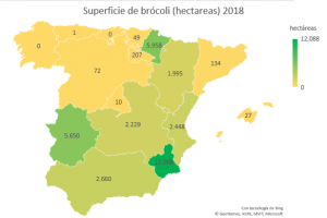 mapa hectáreas en España